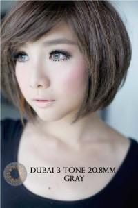 NEW DUBAI 3 TONE Softlens Gray