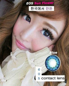 New EOS Sunflower Blue Softlens