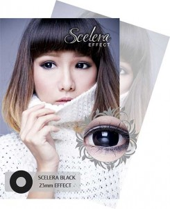 New Sclera Black-23mm-softlens